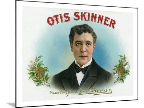 Otis Skinner Brand Cigar Box Label-Lantern Press-Mounted Art Print