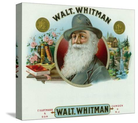 Walt Whitman Brand Cigar Inner Box Label-Lantern Press-Stretched Canvas Print