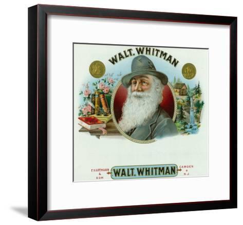 Walt Whitman Brand Cigar Inner Box Label-Lantern Press-Framed Art Print