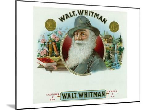 Walt Whitman Brand Cigar Inner Box Label-Lantern Press-Mounted Art Print