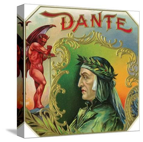 Dante Brand Cigar Outer Box Label-Lantern Press-Stretched Canvas Print