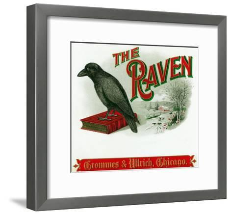 The Raven Brand Cigar Box Label-Lantern Press-Framed Art Print