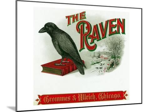 The Raven Brand Cigar Box Label-Lantern Press-Mounted Art Print