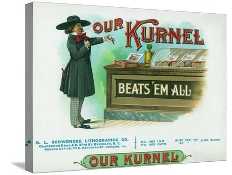 Our Kurnel Brand Cigar Box Label-Lantern Press-Stretched Canvas Print