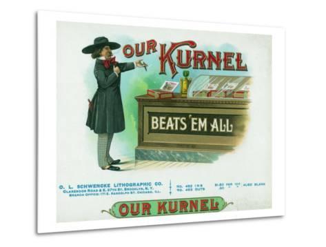 Our Kurnel Brand Cigar Box Label-Lantern Press-Metal Print