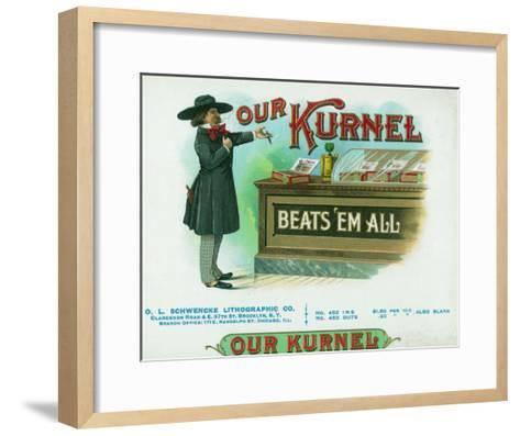 Our Kurnel Brand Cigar Box Label-Lantern Press-Framed Art Print