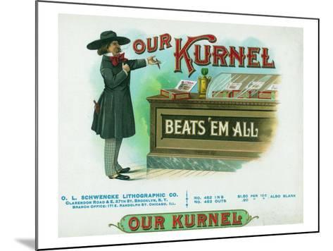 Our Kurnel Brand Cigar Box Label-Lantern Press-Mounted Art Print