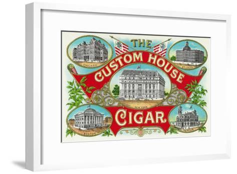 The Custom House Cigar Brand Cigar Box Label-Lantern Press-Framed Art Print