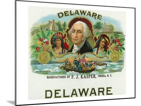 Delaware Brand Cigar Box Label-Lantern Press-Mounted Art Print