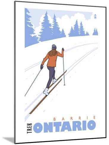 Cross Country Skier, Barrie, Ontario-Lantern Press-Mounted Art Print