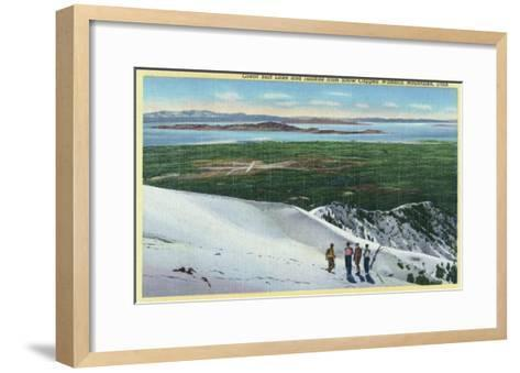 Wasatch Mountains, Utah, Aerial View of Great Salt Lake and Islands from Mt-Lantern Press-Framed Art Print