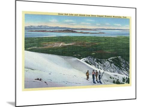 Wasatch Mountains, Utah, Aerial View of Great Salt Lake and Islands from Mt-Lantern Press-Mounted Art Print