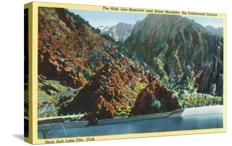 Utah, Big Cottonwood Canyon View of the High Line Reservoir near Storm Mt-Lantern Press-Stretched Canvas Print