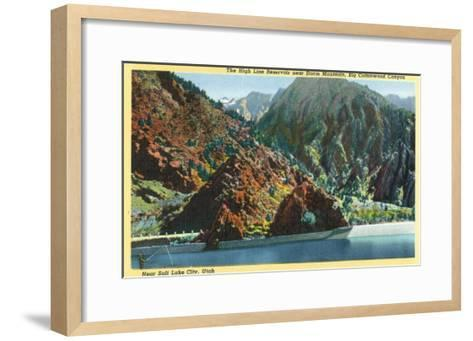 Utah, Big Cottonwood Canyon View of the High Line Reservoir near Storm Mt-Lantern Press-Framed Art Print