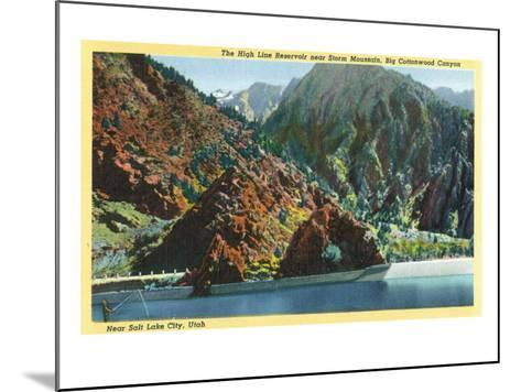 Utah, Big Cottonwood Canyon View of the High Line Reservoir near Storm Mt-Lantern Press-Mounted Art Print