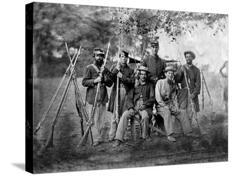 Group of Soldiers, Civil War-Lantern Press-Stretched Canvas Print