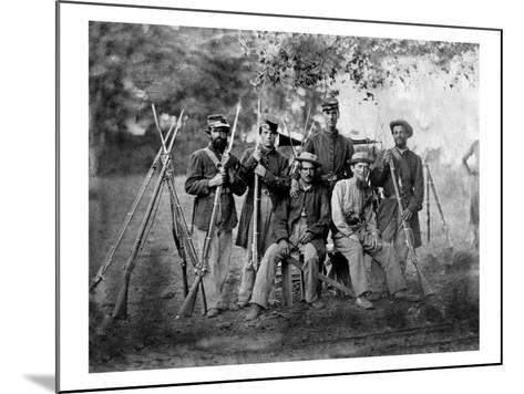 Group of Soldiers, Civil War-Lantern Press-Mounted Art Print