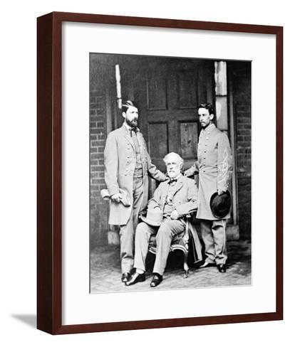 G.W.C. Lee, Robert E. Lee and Walter Taylor, Civil War-Lantern Press-Framed Art Print