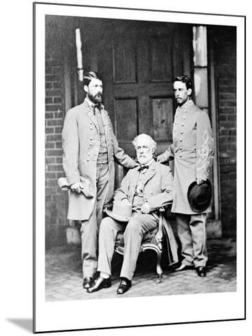 G.W.C. Lee, Robert E. Lee and Walter Taylor, Civil War-Lantern Press-Mounted Art Print