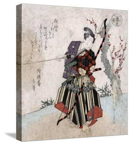 Archery, Japanese Wood-Cut Print-Lantern Press-Stretched Canvas Print