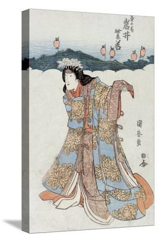 The Actor Iwai Shijaku in the Role of Kikunomae, Japanese Wood-Cut Print-Lantern Press-Stretched Canvas Print