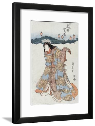 The Actor Iwai Shijaku in the Role of Kikunomae, Japanese Wood-Cut Print-Lantern Press-Framed Art Print