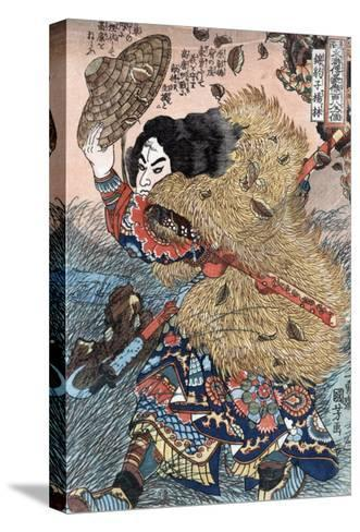 Kinhyoshi Yorin, Hero of the Suikoden, Japanese Wood-Cut Print-Lantern Press-Stretched Canvas Print