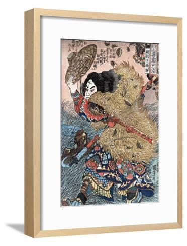 Kinhyoshi Yorin, Hero of the Suikoden, Japanese Wood-Cut Print-Lantern Press-Framed Art Print