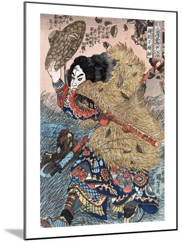 Kinhyoshi Yorin, Hero of the Suikoden, Japanese Wood-Cut Print-Lantern Press-Mounted Art Print