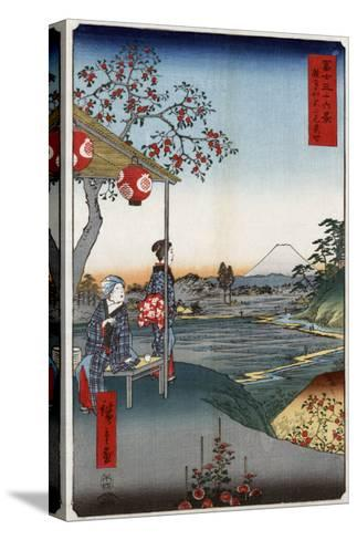 Fujimi Teahouse at Zoshigaya, Japanese Wood-Cut Print-Lantern Press-Stretched Canvas Print