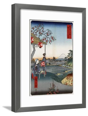Fujimi Teahouse at Zoshigaya, Japanese Wood-Cut Print-Lantern Press-Framed Art Print