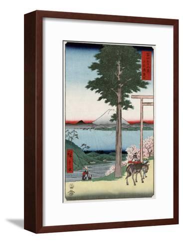 Mount Fuji across Yedo Bay Seen from Rokusozan, Japanese Wood-Cut Print-Lantern Press-Framed Art Print