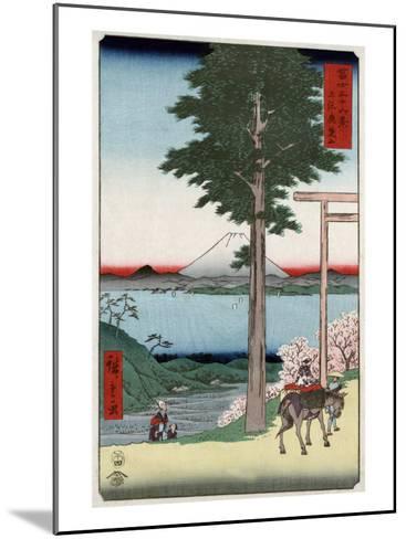 Mount Fuji across Yedo Bay Seen from Rokusozan, Japanese Wood-Cut Print-Lantern Press-Mounted Art Print