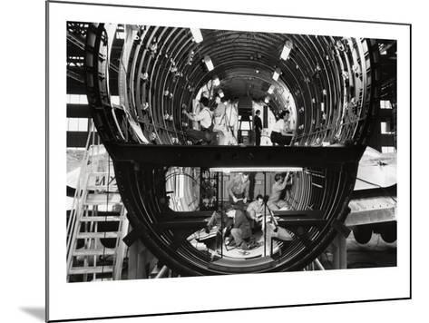 Seattle, Washington, Construction of Boeing YC-97 Stratofreighter View-Lantern Press-Mounted Art Print