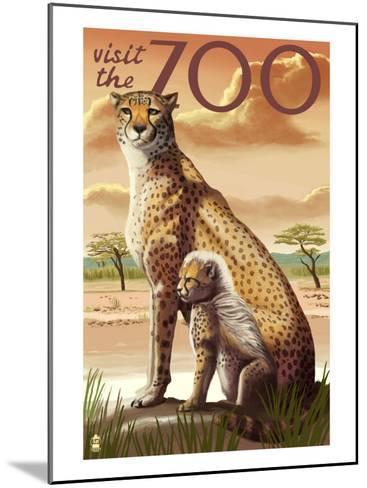 Visit the Zoo, Cheetah View-Lantern Press-Mounted Art Print