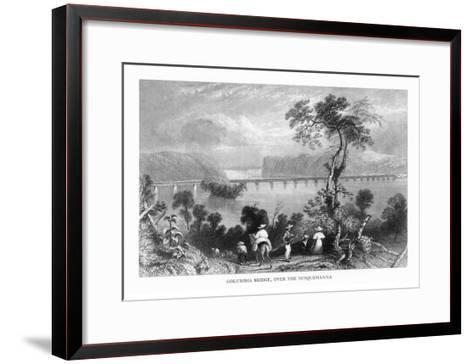 Maryland, View of the Columbia Bridge over the Susquehanna River-Lantern Press-Framed Art Print