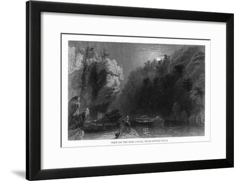 New York, Scenic View on the Erie Canal near Little Falls-Lantern Press-Framed Art Print