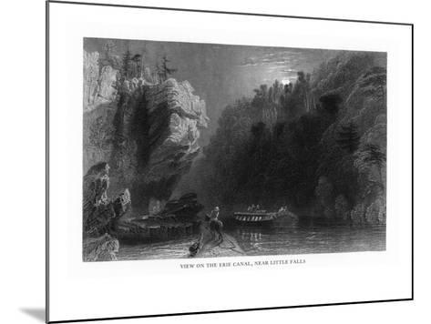 New York, Scenic View on the Erie Canal near Little Falls-Lantern Press-Mounted Art Print