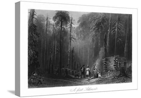 Canada, View of a First Settlement on the Frontier-Lantern Press-Stretched Canvas Print