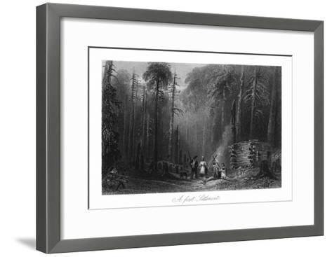 Canada, View of a First Settlement on the Frontier-Lantern Press-Framed Art Print