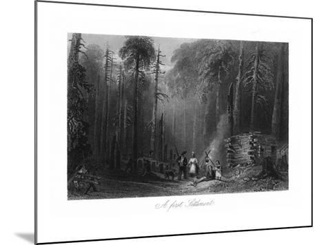 Canada, View of a First Settlement on the Frontier-Lantern Press-Mounted Art Print
