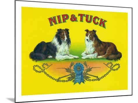 Nip and Tuck Brand Cigar Box Label, Rough Collies-Lantern Press-Mounted Art Print