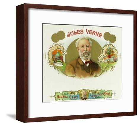 Jules Verne Brand Cigar Box Label, French Science-Fiction Author-Lantern Press-Framed Art Print
