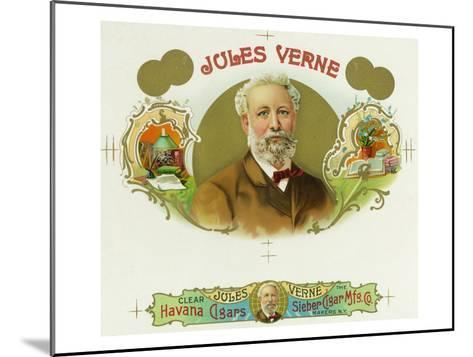 Jules Verne Brand Cigar Box Label, French Science-Fiction Author-Lantern Press-Mounted Art Print