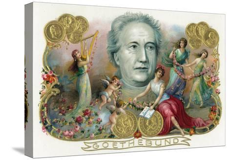 Goethebund Brand Cigar Box Label, Johann Wolfgang von Goethe, German Romantic Poet-Lantern Press-Stretched Canvas Print