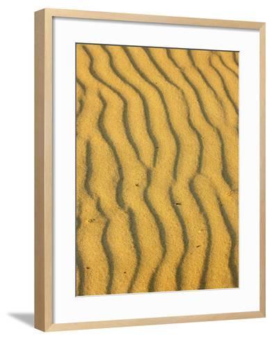 Sand Ripples, Queensland, Australia-David Wall-Framed Art Print