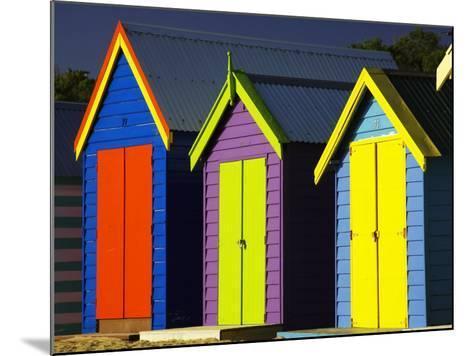 Bathing Boxes, Middle Brighton Beach, Port Phillip Bay, Melbourne, Victoria, Australia-David Wall-Mounted Photographic Print