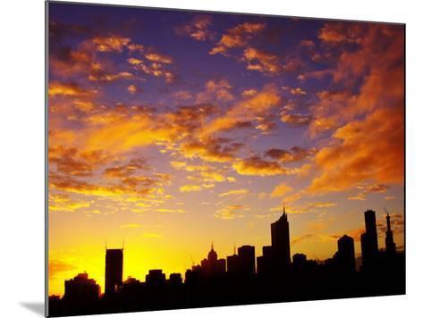 Melbourne CBD at Dawn, Victoria, Australia-David Wall-Mounted Photographic Print