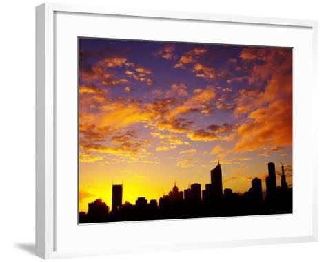 Melbourne CBD at Dawn, Victoria, Australia-David Wall-Framed Art Print