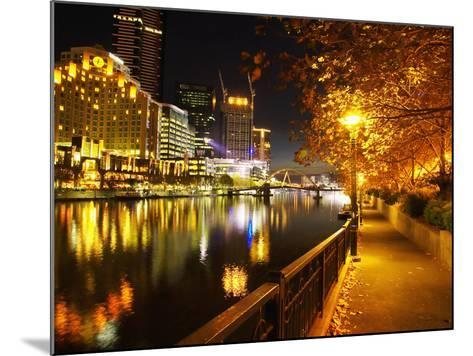 Southbank, Yarra River, and Flinders Walk, Melbourne, Victoria, Australia-David Wall-Mounted Photographic Print